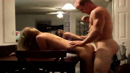 Wife waits on the kitchen table for one hardcore fuck - scene 9