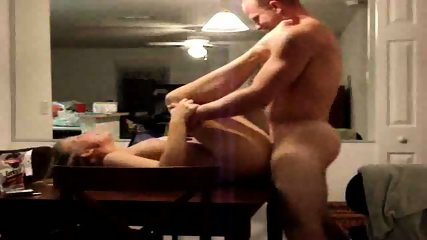 Wife waits on the kitchen table for one hardcore fuck - scene 6