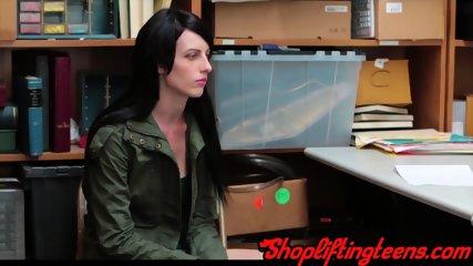Real shoplifter gets cum