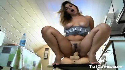 Busty Teen Riding Toy - scene 9