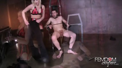 Hot Blonde Fucks Her Slave - scene 12
