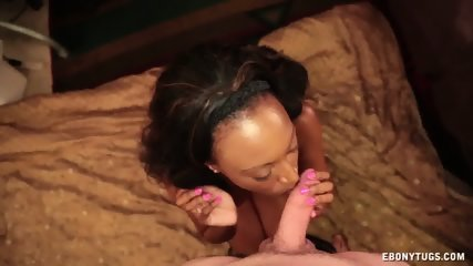 Cum On Ebony Babe's Face - scene 4
