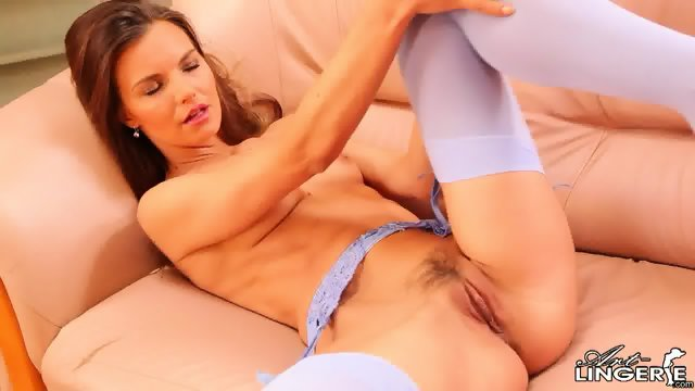 Sexy Suzie With Nice Stockings In Solo Action