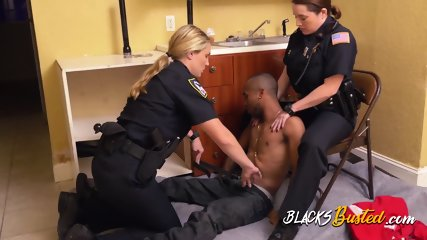 Thug breaks in to private property and gets caught by horny milf cops