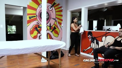 Creepy Bruno ties up and bangs masseuse with no mercy