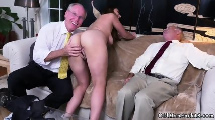 Old father and young Ivy impresses with her fat knockers and ass