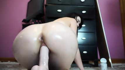 Brunette Cam Chick Dildo Riding And Ass Fingering - Part 2