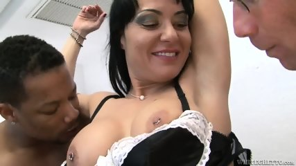 Hairy Pussy Gets Gang Banged - scene 7