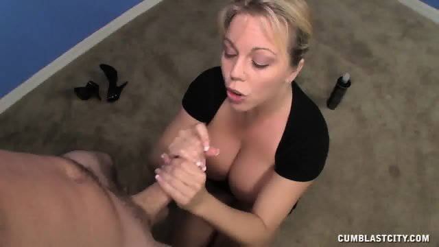 Busty Lady Covered With Cum