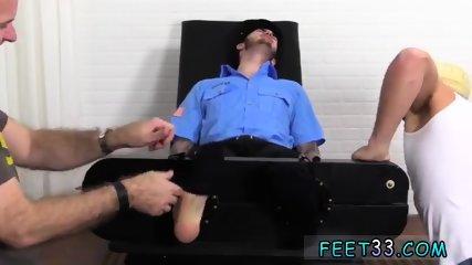 Gay naked men foot fetish Officer Christian Wilde Tickled