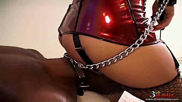 Monica Mattos has interracial sex with her slave