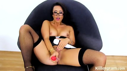 Sexy Mommy Plays With Toys