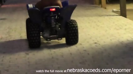 Perfect Teen Real Life Farmers Daughter Riding Atv Naked On Iowa Farm - scene 12