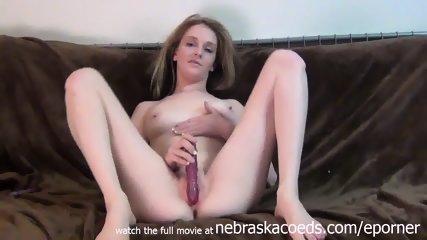 Innocent College Hottie Masturbating With A Dildo In Her Apartment - scene 1