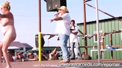 Interesting Amateur Pole Stripping Contest At A Iowa Biker Rally - scene 10