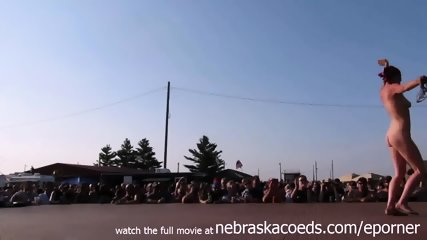 Interesting Amateur Pole Stripping Contest At A Iowa Biker Rally - scene 1