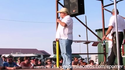 Interesting Amateur Pole Stripping Contest At A Iowa Biker Rally - scene 5