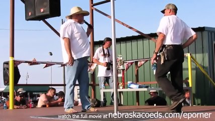 Interesting Amateur Pole Stripping Contest At A Iowa Biker Rally - scene 6