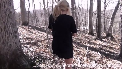 Skinny Cedar Rapids Iowa Teen Masturbating In A Local Forest - scene 10