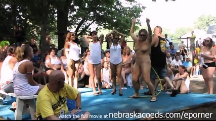 Amateur Wet Tshirt Contest At Nudes A Poppin Festival Indiana - scene 9