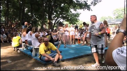 Amateur Wet Tshirt Contest At Nudes A Poppin Festival Indiana - scene 1
