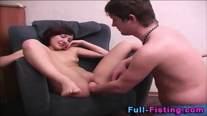 Tiny Amateur Teen Fisted - scene 6