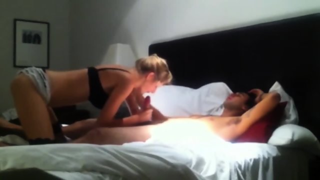 Blonde Teen Fucks And Sucks