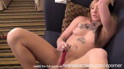 Nervous Tattooed Iowa Teen Masturbating To Pay Rent - scene 6