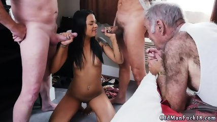 Old man daddy bear and licking pussy Staycation with a Latin Hottie