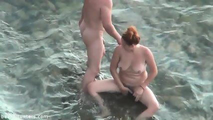 Amateurs Have Sex On The Beach - scene 12
