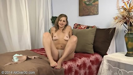 Striptease By Mature Blonde Lady