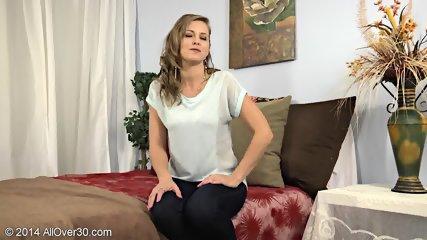 Striptease By Mature Blonde Lady - scene 2