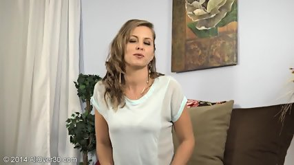 Striptease By Mature Blonde Lady - scene 3