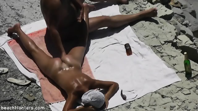 Pussy Stimulation On The Beach