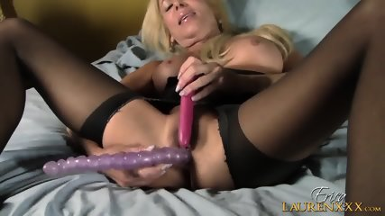 Mature Blonde Plays With Toys - scene 10
