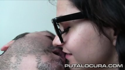 Naughty Girl With Glasses Takes Older Guy's Dick - scene 1