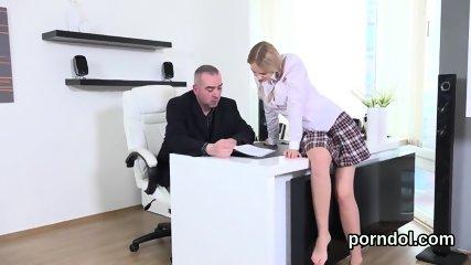 Nice schoolgirl gets seduced and poked by older schoolteacher