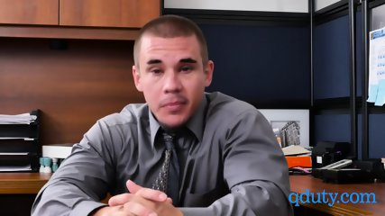 Friendly boss makes his new employee worship his dick and balls