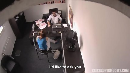 Amateur Redhead Monika Gets Banged On Desk - scene 5