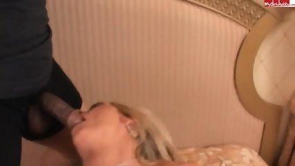Busty Blonde Takes Cocks - scene 7