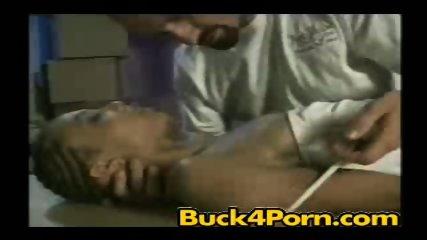 Ebony slut fucked by her boss - scene 3