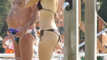 Sexy Bikini Girls Tanning At The Pool - scene 9