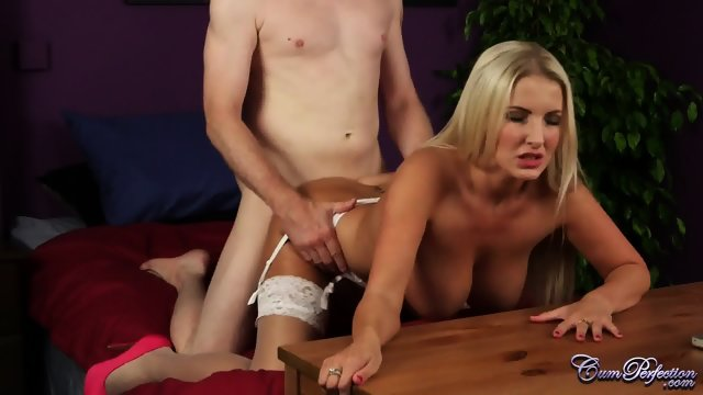 Busty Blonde Loves The Taste Of Cum