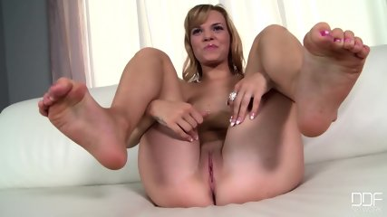 Blonde Lady With Sexy Feet