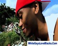 Amateur Black Gangster Rammed