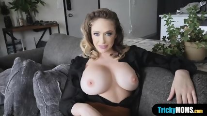 Busty MILF stepmothers pierced pussy fucked by stepson