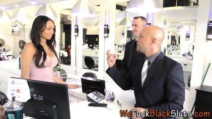 Black sluts mouth jizzed