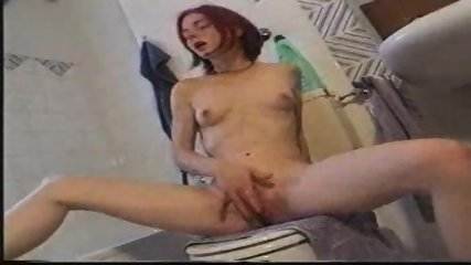 Young Girl rubbing herself in Toilet - scene 11