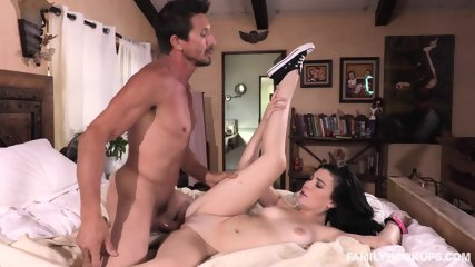 Stepuncle Poked Her Throat And Cunt - scene 12