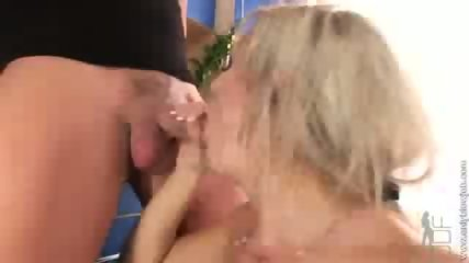 This horny slut blows his cock - scene 10